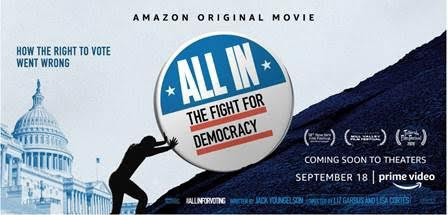 """Now Streaming """"ALL IN: THE FIGHT FOR DEMOCRACY"""""""