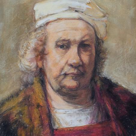 Rembrandt Selbstportrait Pastellkreide