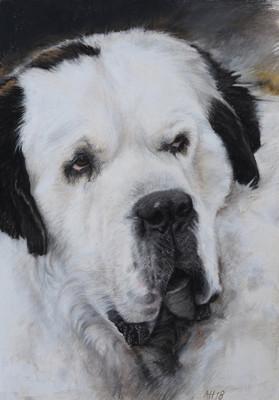 Hundeporträt Pastell ca. 35x55 cm von Alex van de Hoef