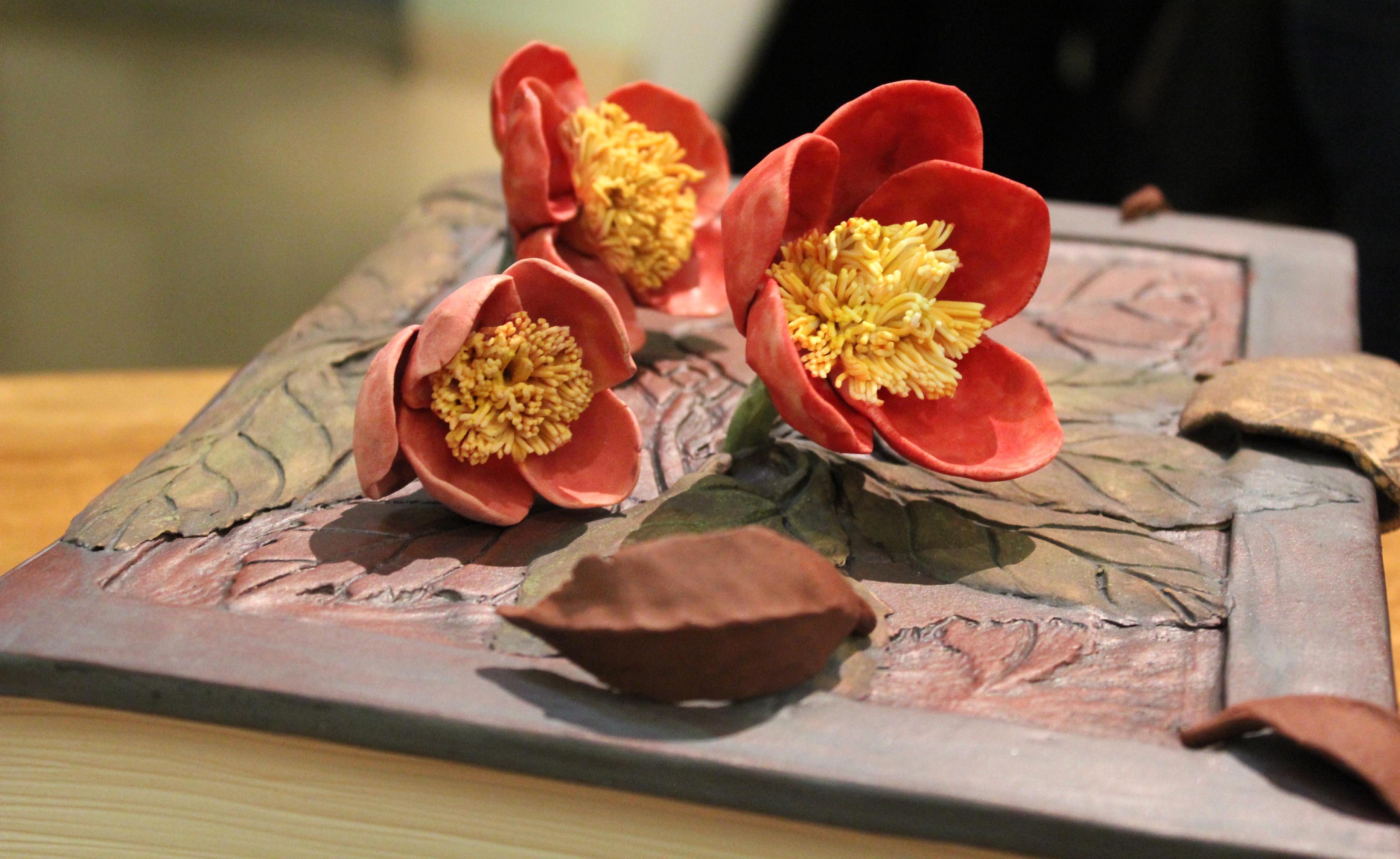 Book of Camellias, detail