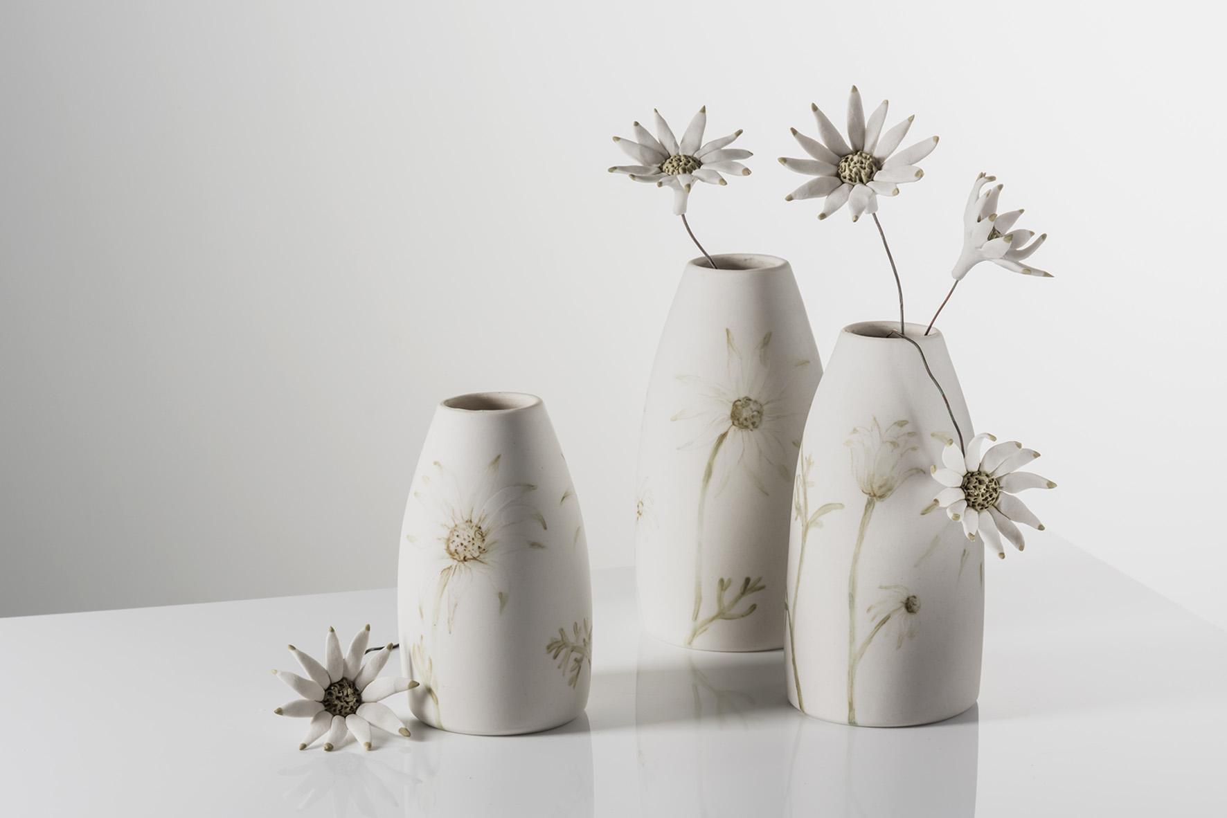 Flannel Flower vases