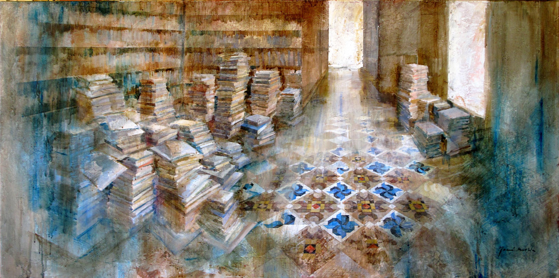 Ambient literari - 75 x 150 cm