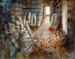 Ambient literari - 100x 130 cm