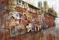 Bouquinistes vogue -100 x 150 cm