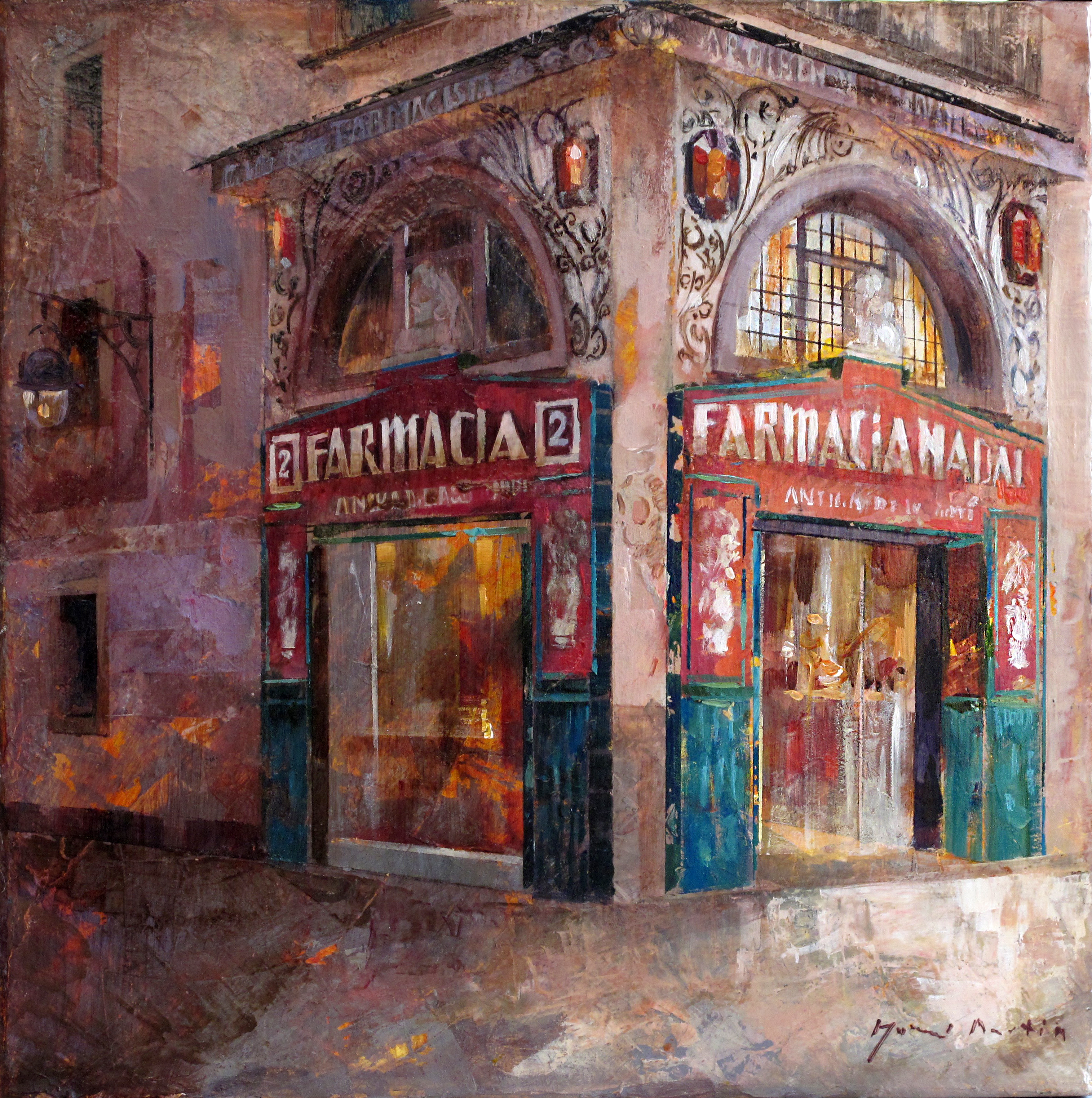 Las ramblas Farmacia - 33 x 33 cm