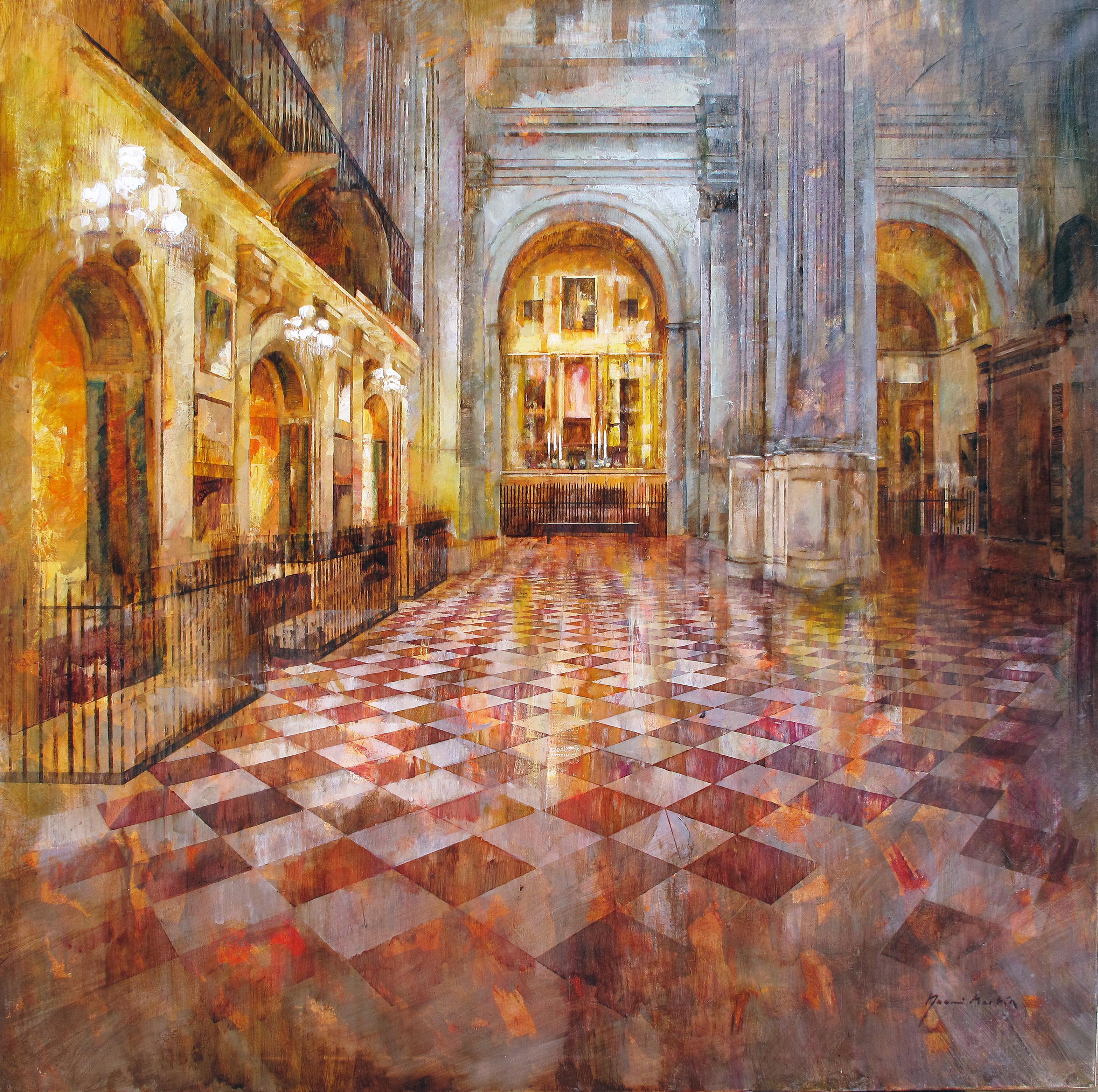 Interior_catedral de Málaga_100x100 cm