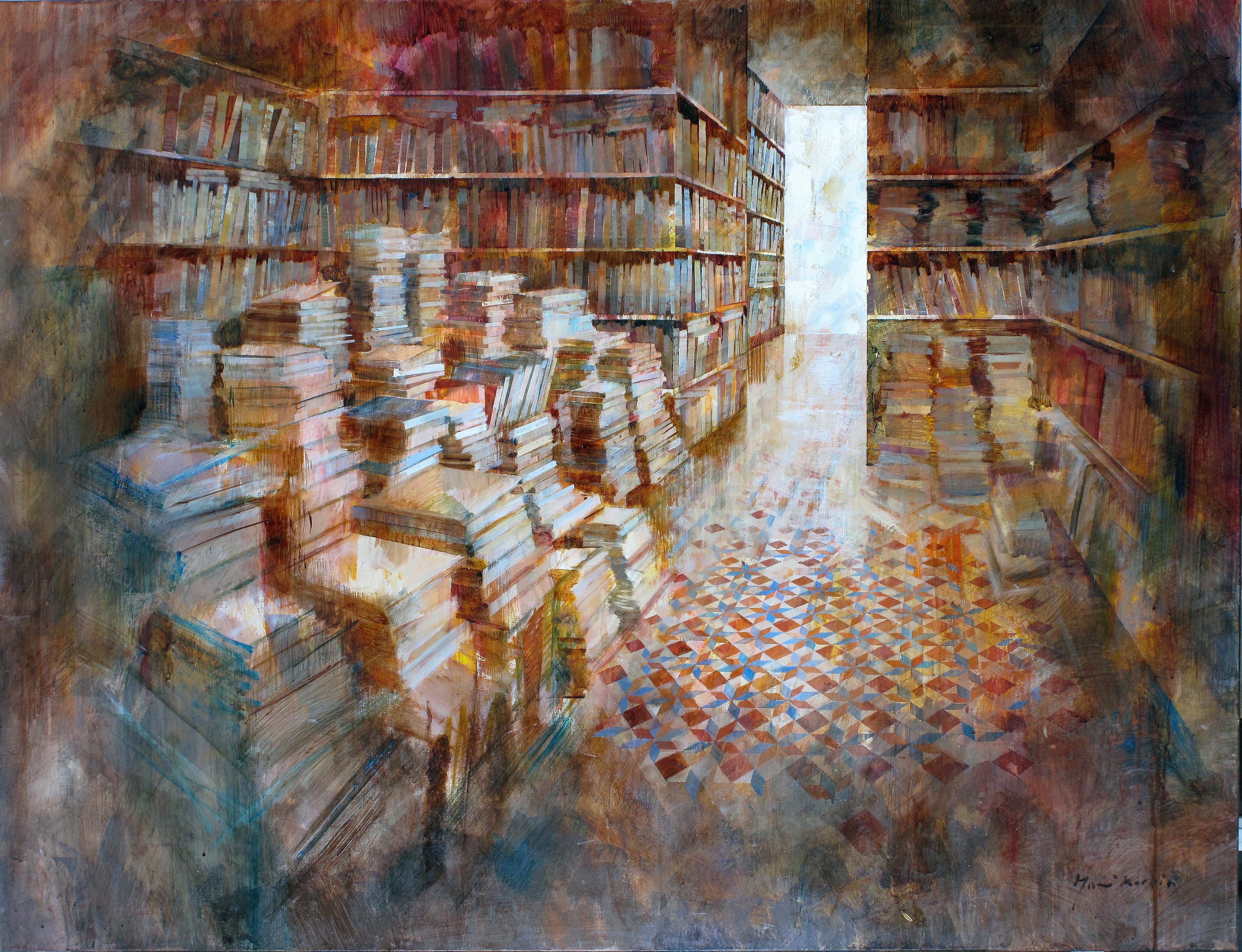 Bookshop - 100 x 130 cm