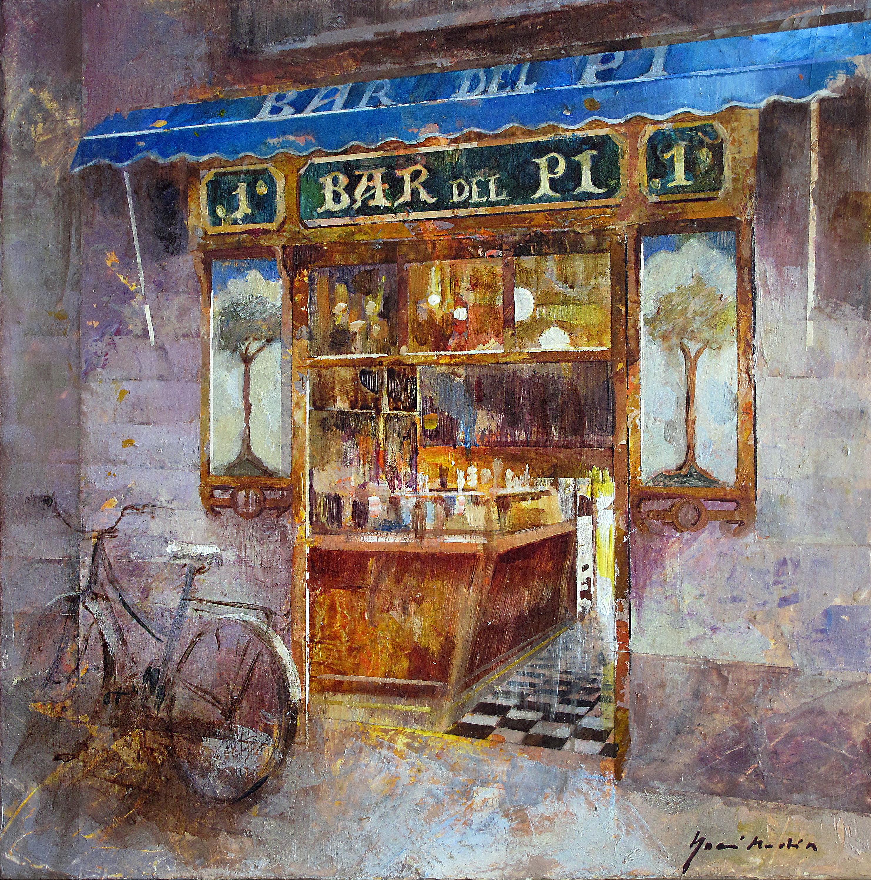 Bar del Pi, barcelona- 33 x 33 cm