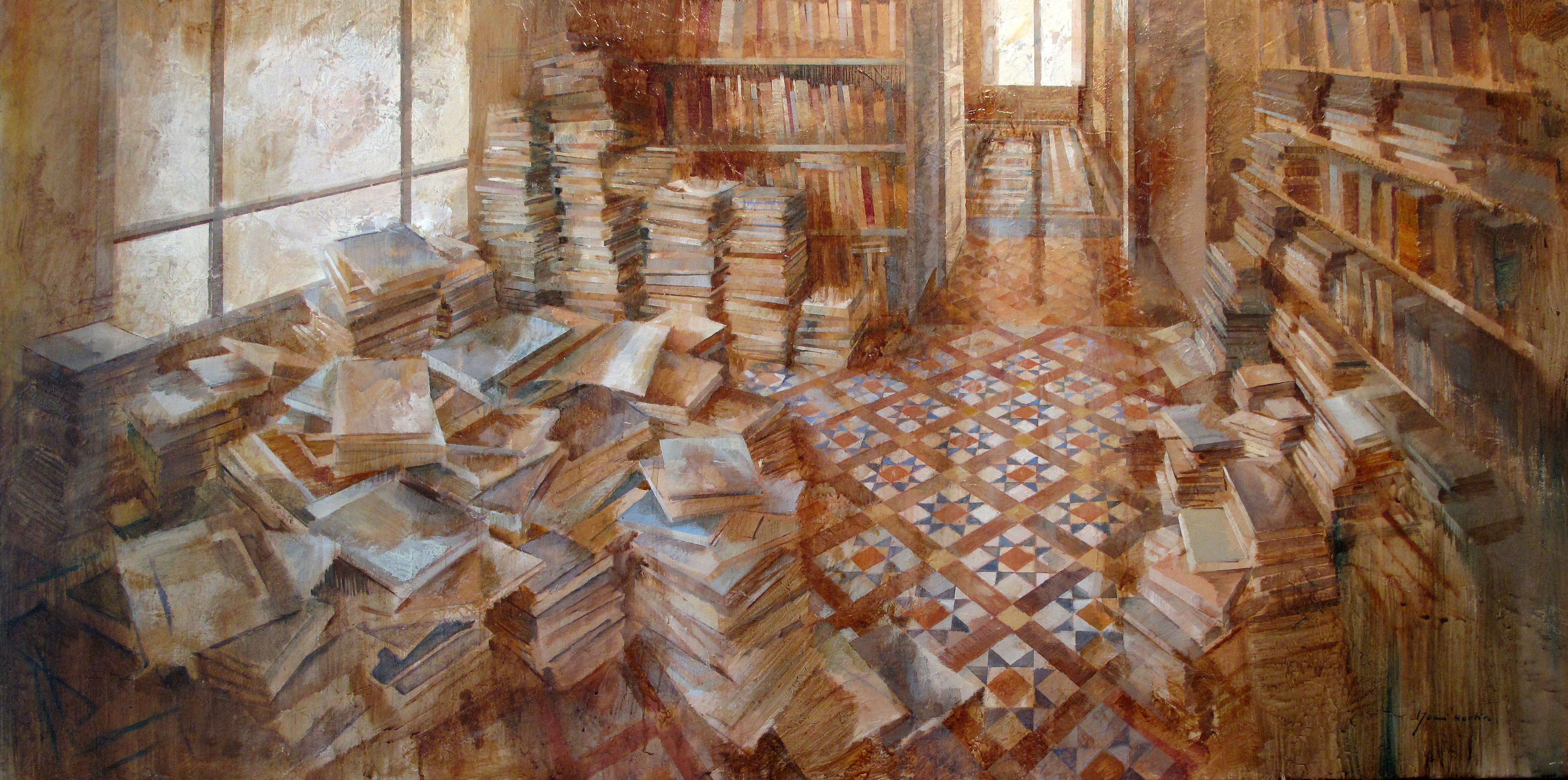 ambiente literario 75 x 150 cm