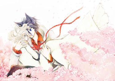 蒼空、心音、桜のはなびら