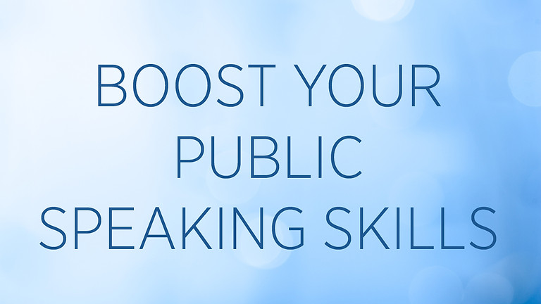 """""""Boost Your Public Speaking Skills"""" with GeGe Beall"""
