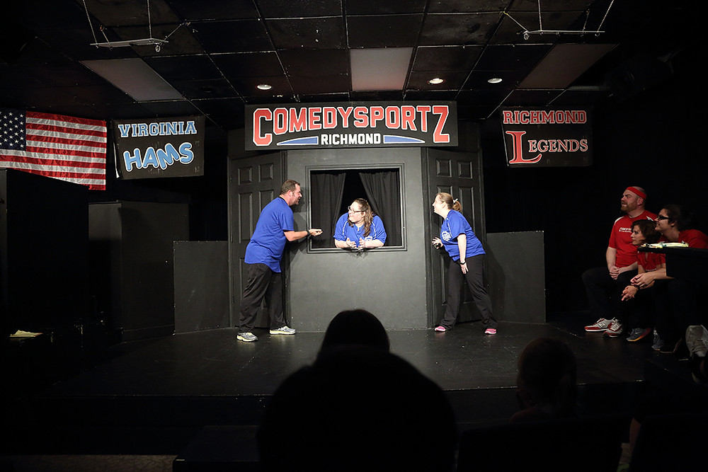 improv performers on stage