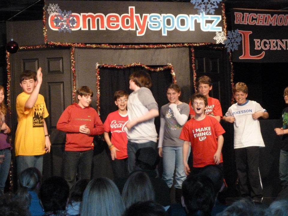kids doing improv