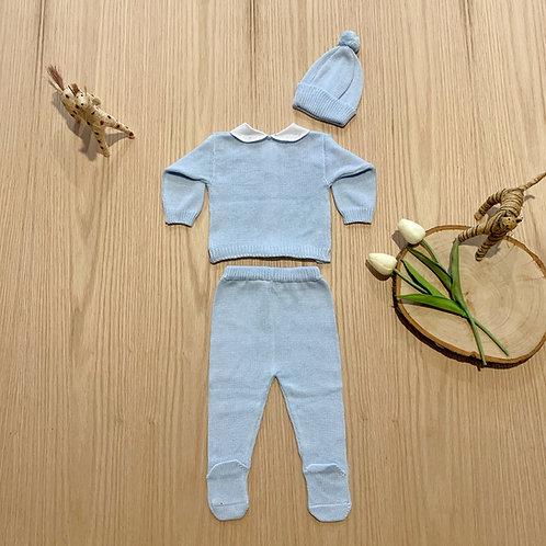 Conjunto para bebe * 3 Piezas Mod Full  Trezas Azul