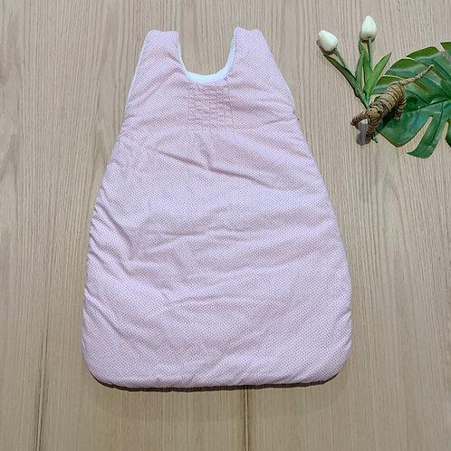 Sleeping Bag sin manga para bebe 100% algodón, en Fleeze por dentro color rosado