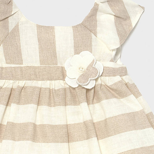 Vestido lino rayas niña