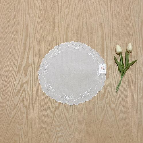 Carpeta redonda lino 31cmtrs de diametro