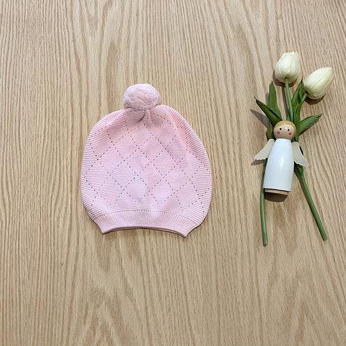 Gorro en Hilo color rosado para bebe