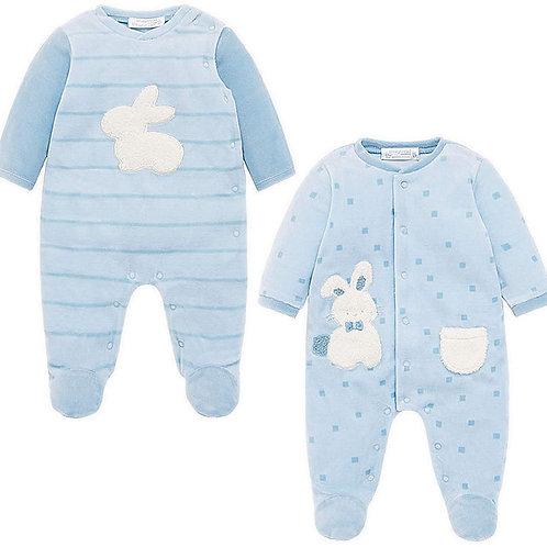 Pijama Enteriza Termica Azul estampado conejito