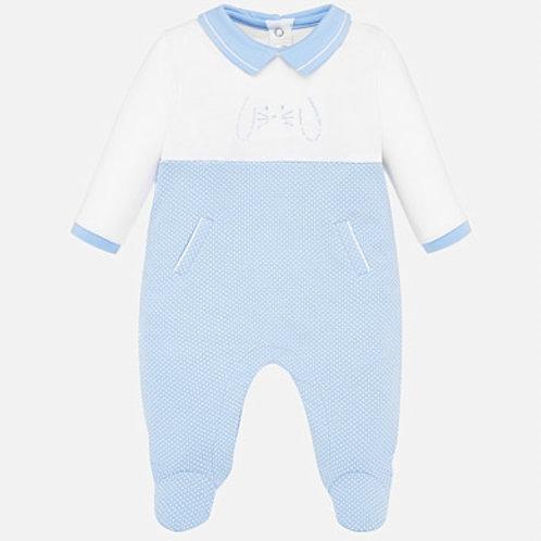 Pijama  Enteriza Azul Claro