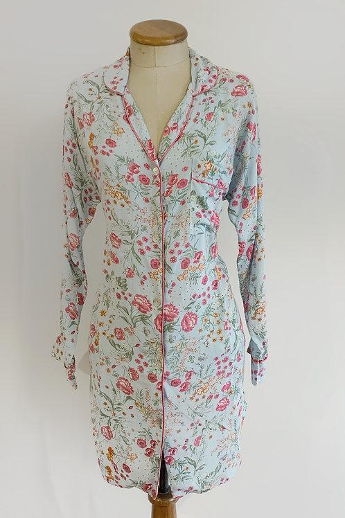 Pijama Camisera Corta Manga Larga