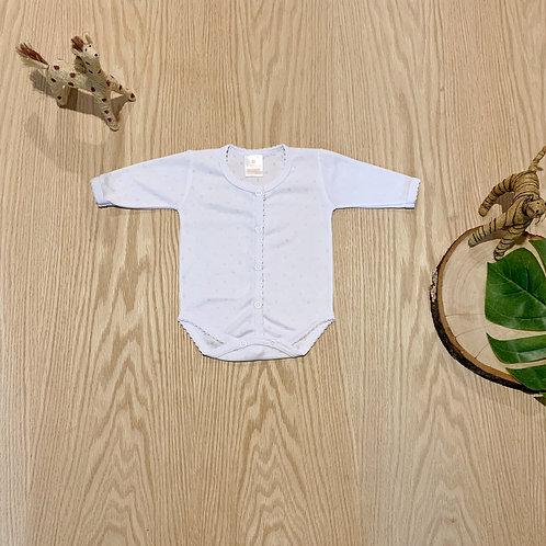 Body Interior  Manga Larga Blanco