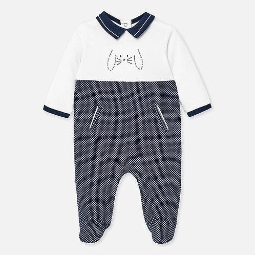 Pijama  Enteriza franela para bebe color Azul oscuro