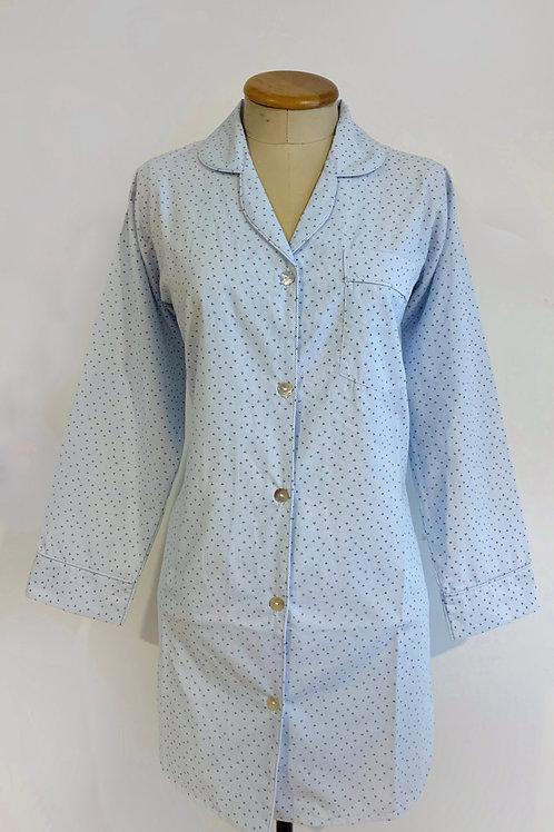 Pijama camisera corta manga largo