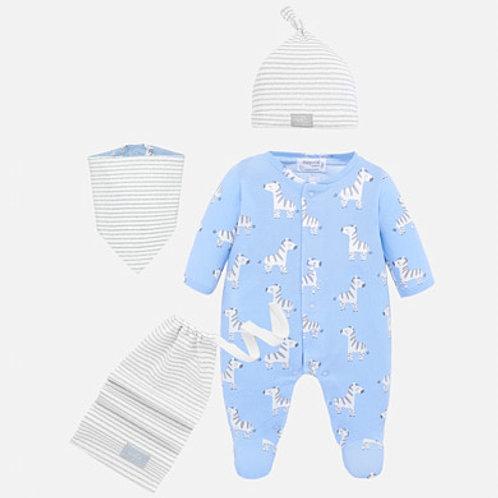 Pijama Juego *4 Piezas  Azul