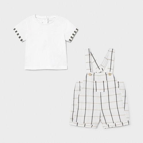 Conjunto overol y camiseta niño