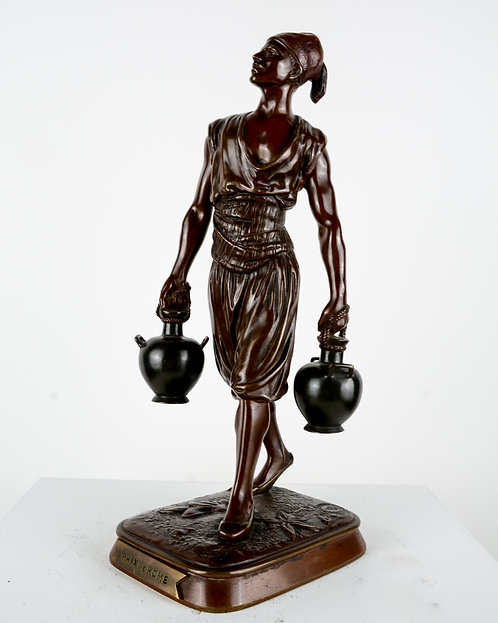 Watercarrier in bronze by Marcel Debut