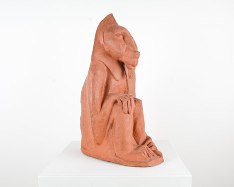 Art Deco Macaque In Terracotta, ca. 1930