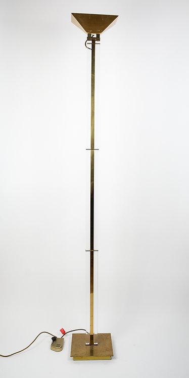 Floor lamp in bronze and acrylic
