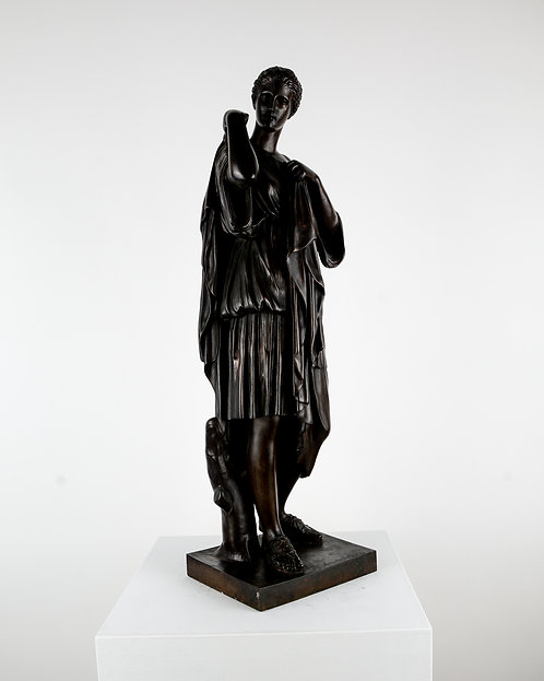 Diana in Bronze, 19th Century, Signed, France
