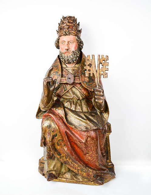 Saint Peter, Woodcarved, 15th Century, Lower Rhine