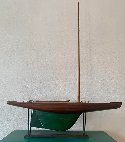 Model Boat, Hand Build, Dutch, ca. 1940