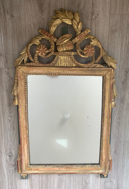 Wood Carved, Gilded Mirror, France, 18th Century