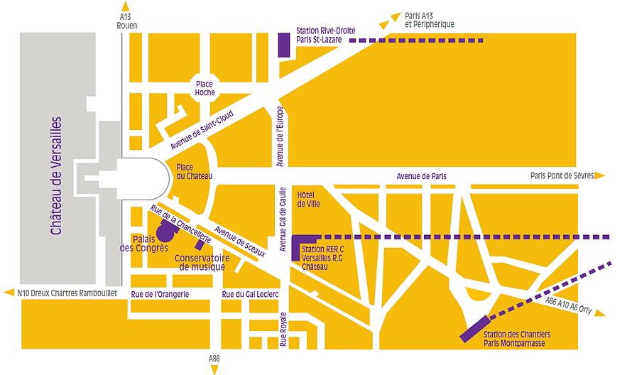 Plan d'accès Palais des congrès de Versailles