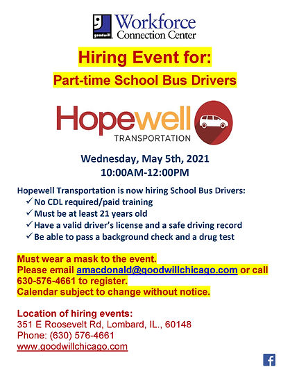 Hopewell hiring event poster May 2021.jp