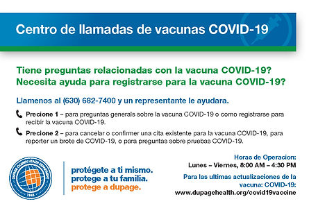 COVID-19 Vaccine Call Center Postcard-SP