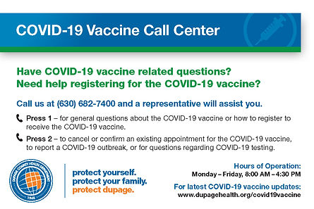 COVID-19 Vaccine Call Center Postcard-EN
