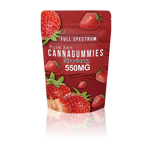 Pure Xen- Full Spectrum D8 Strawberry Gummies