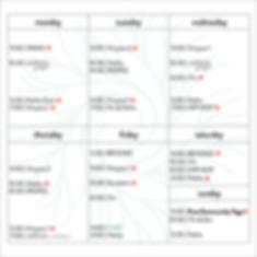 2020. JUNE   Square Mini Schedule Table.