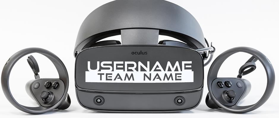 VR Headset Nameplate