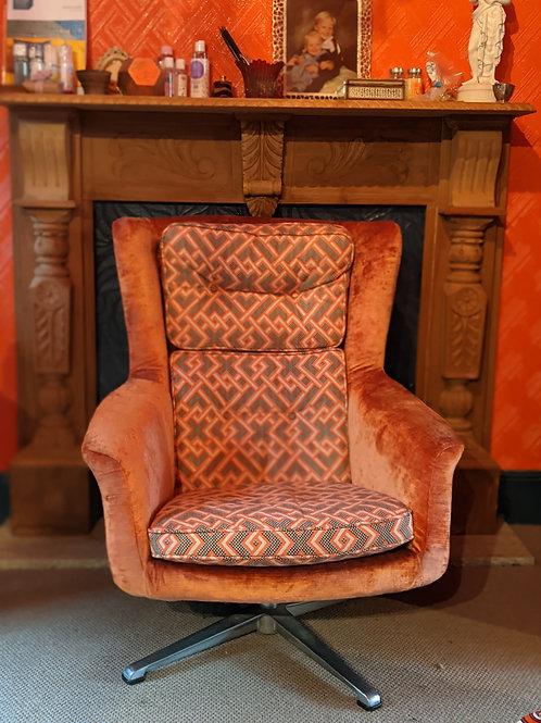 1970s Swivel 'egg' chair - restored