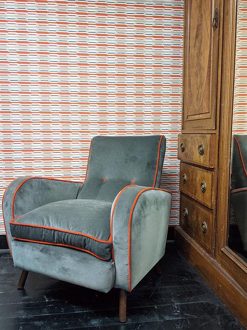 Velvet Retro armchair
