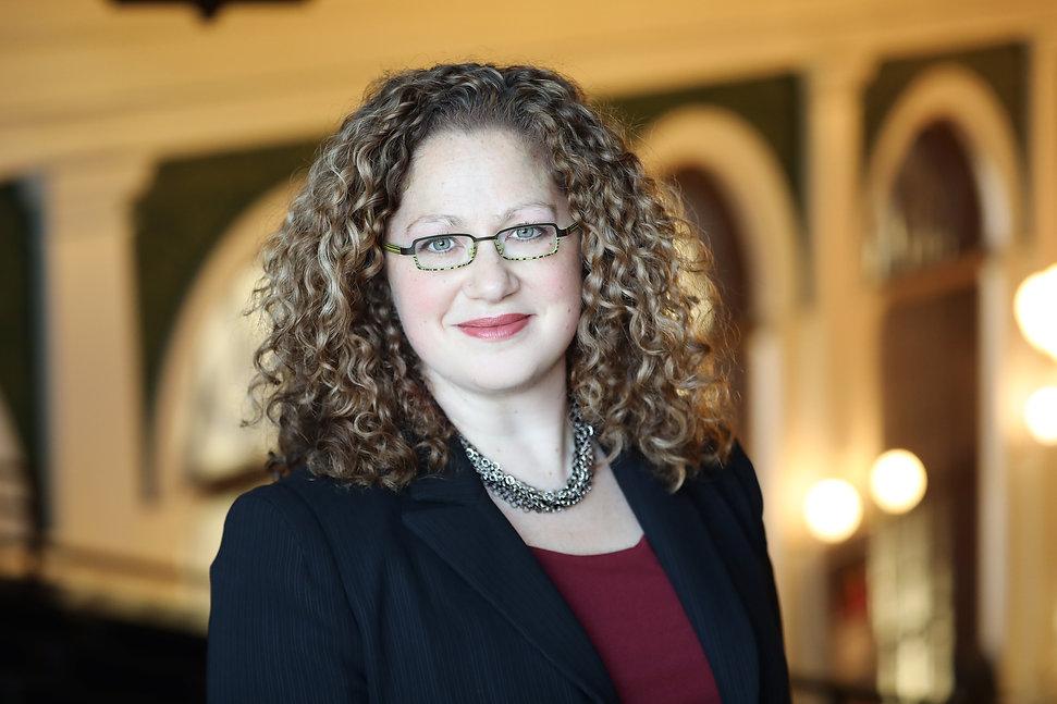 Senator Becca Rausch at the Massachusetts State House (Democrat, Needham, Massachusetts)