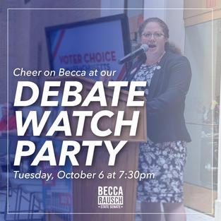 DEBATE WATCH PARTY!