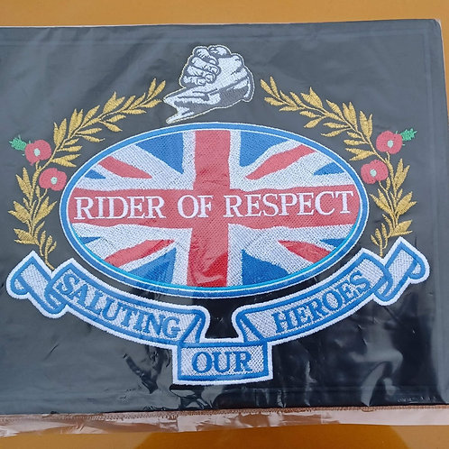 Rider of Respect embroidered patch