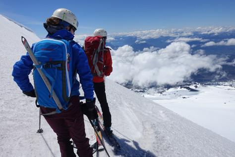 Hiking and skiing Volcano Villarrica - Chile